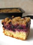 Mėlynių pyragas su trupiniais