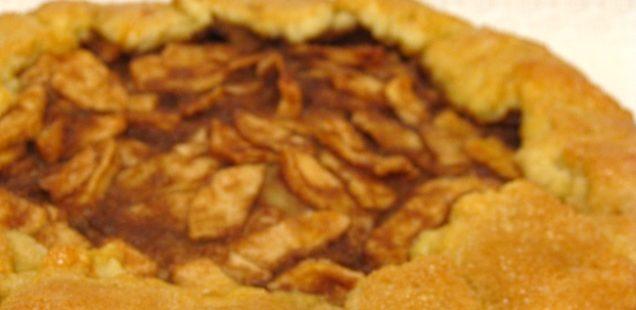 Prancūziškas obuolių pyragas - Galette