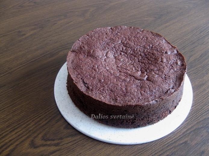 Sokoladinis. burokeliu pyragas