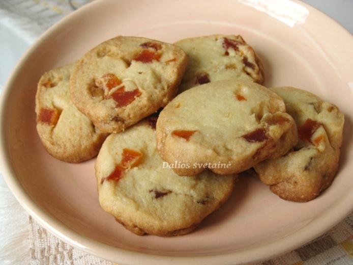 Sviestiniai sausainiai su dziov.vaisiais